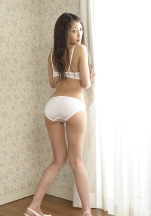 Modest tiny Far eastern Aoi Miyama with tiny bra buddies agreed to a nude photo session