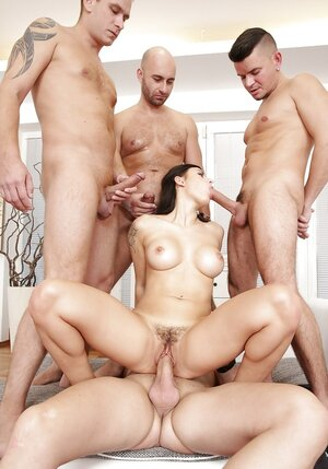 Brunette can do everything visitor wants and moreover even being double penetrated