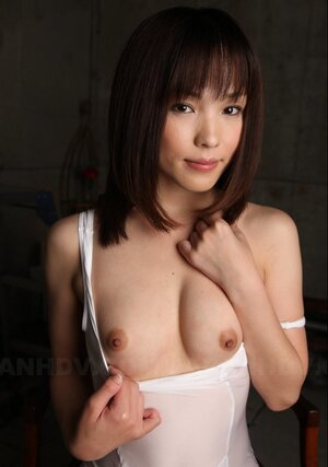 It isn't a hard thing for splendid Japanese gal to show titties sitting on chair