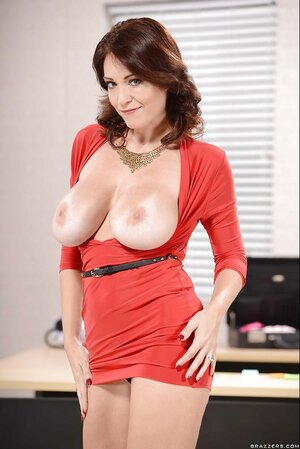 Prestige Sexually available mom can afford taking red dress off and additionally get on working table